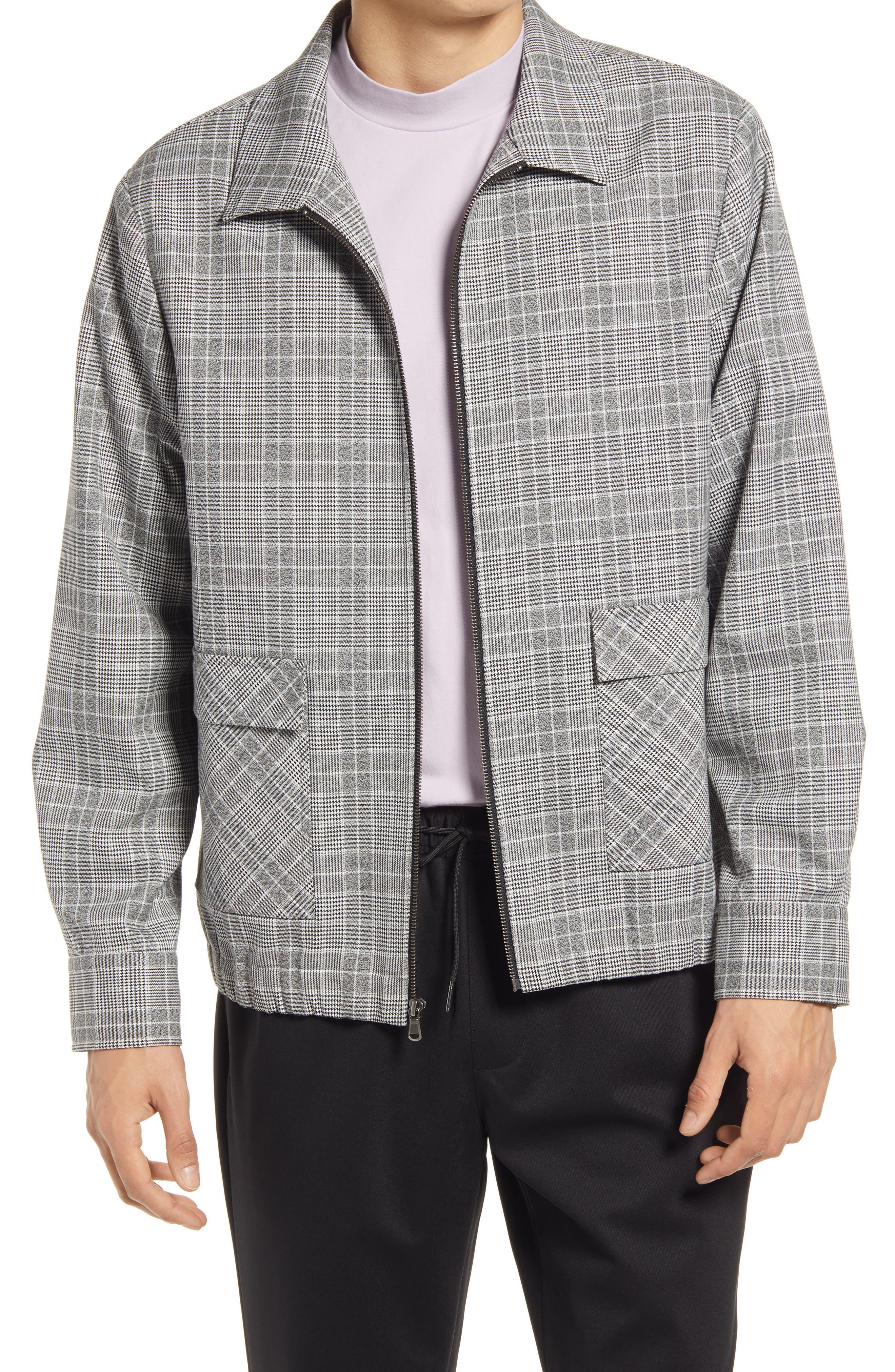 50s Men's Jackets | Greaser Jackets, Leather, Bomber, Gabardine Mens Open Edit Collar Bomber Jacket Size XX-Large - Black $64.35 AT vintagedancer.com