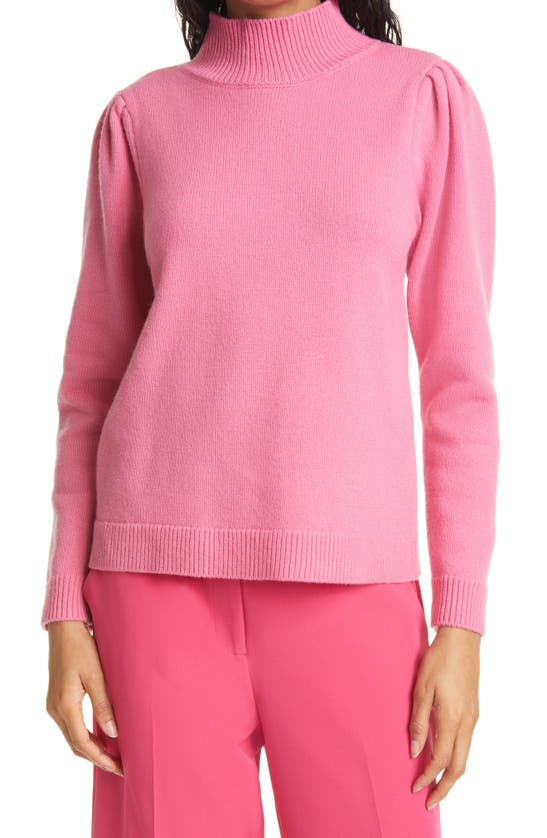 MILLY Wools WOOL & CASHMERE TURTLENECK SWEATER