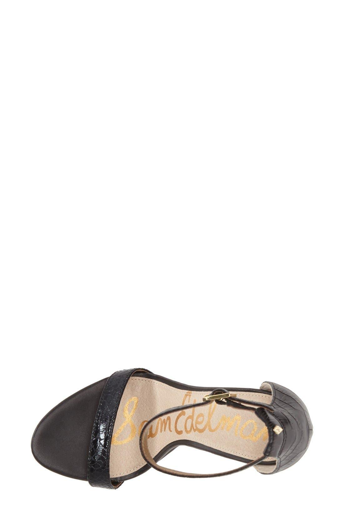 ,                             'Eleanor' Ankle Strap Sandal,                             Alternate thumbnail 40, color,                             007
