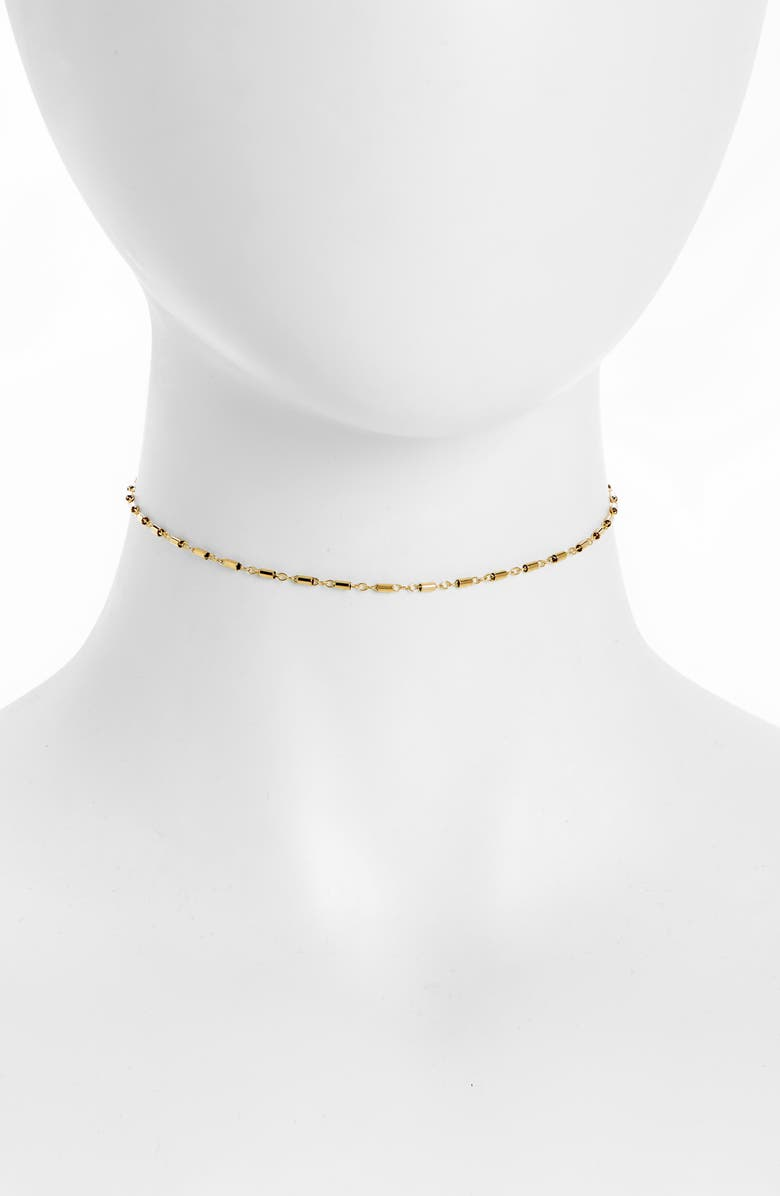ALL THE WIRE Tube Chain Choker, Main, color, GOLD
