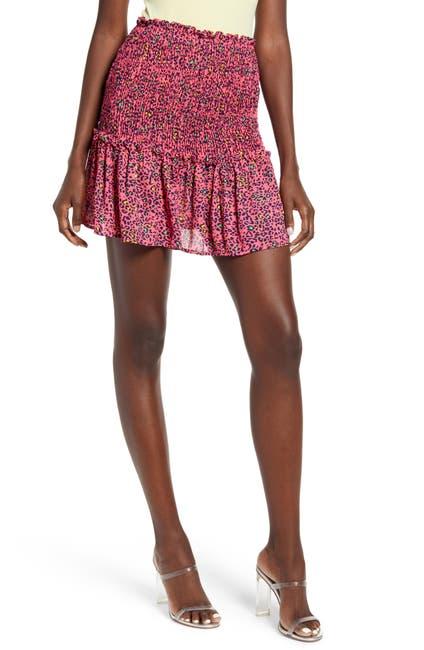Image of GOOD LUCK GEM Smocked Ruffle Hem Skirt