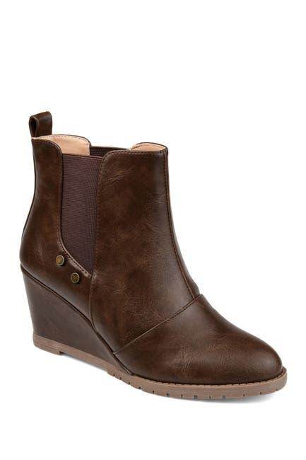 Image of JOURNEE Collection Jessie Wedge Heel Bootie