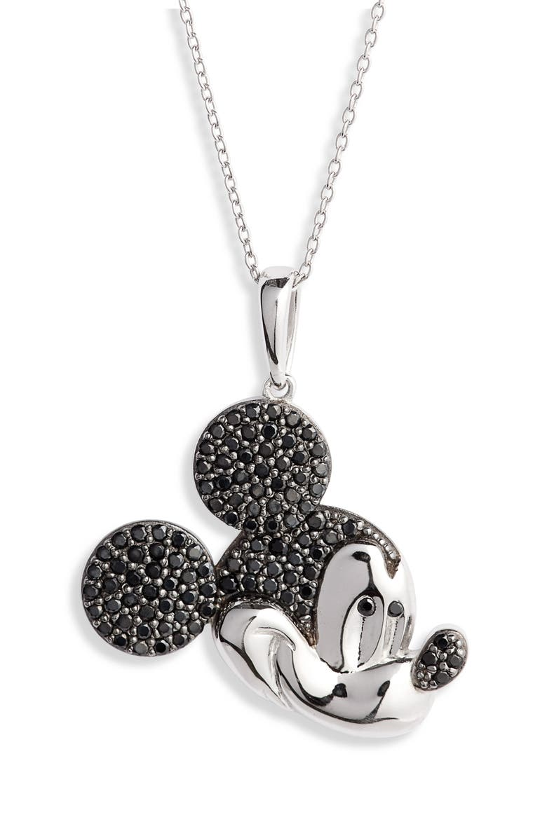 DISNEY Mickey Multitone Crystal Pavé Pendant Necklace, Main, color, 040