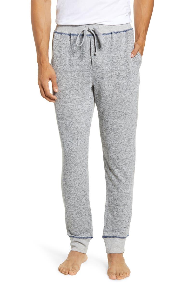 MAJESTIC INTERNATIONAL Man Jam Knit Lounge Pants, Main, color, FOG HEATHER