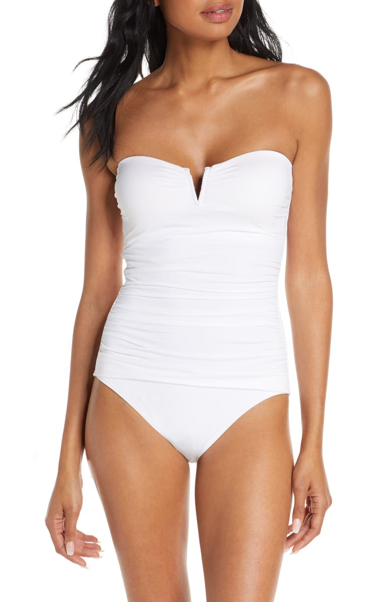 TOMMY BAHAMA 'Pearl' Convertible One-Piece Swimsuit, Main, color, WHITE