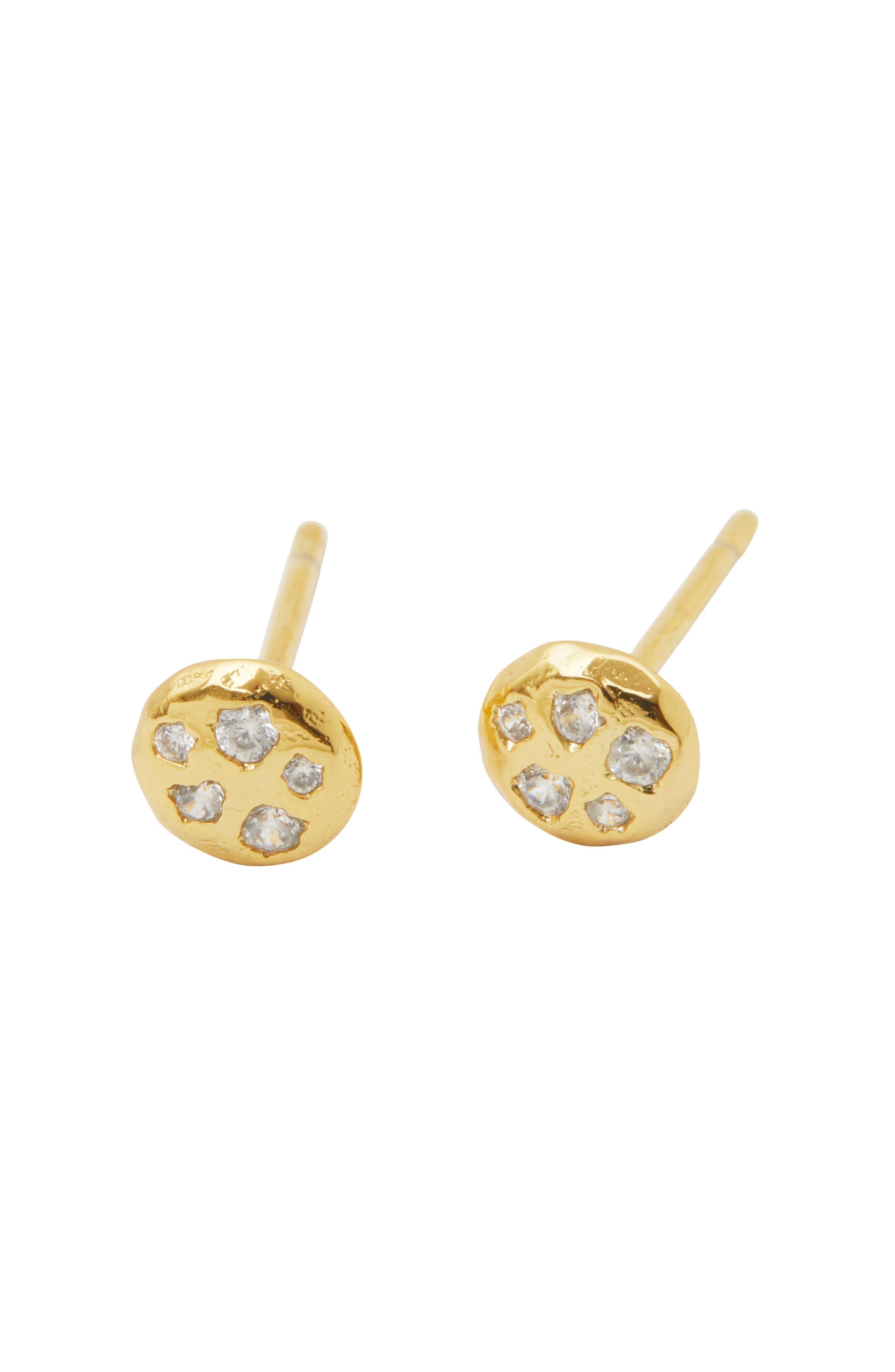 Collette Circle Stud Earrings