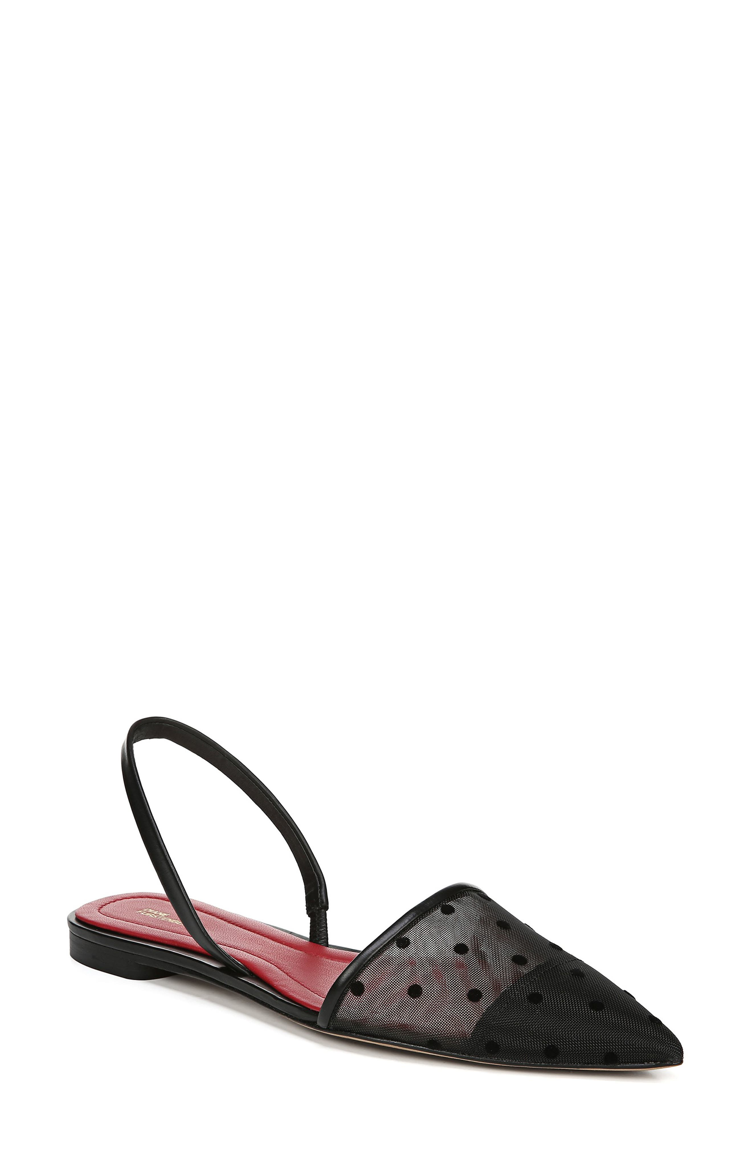 Diane Von Furstenberg Koko Slingback Flat- Black