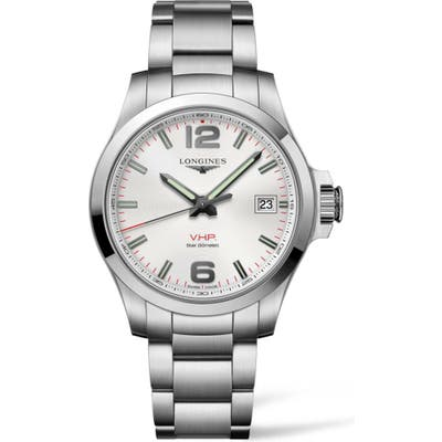 Longines Conquest V.h.p. Bracelet Watch, 41Mm