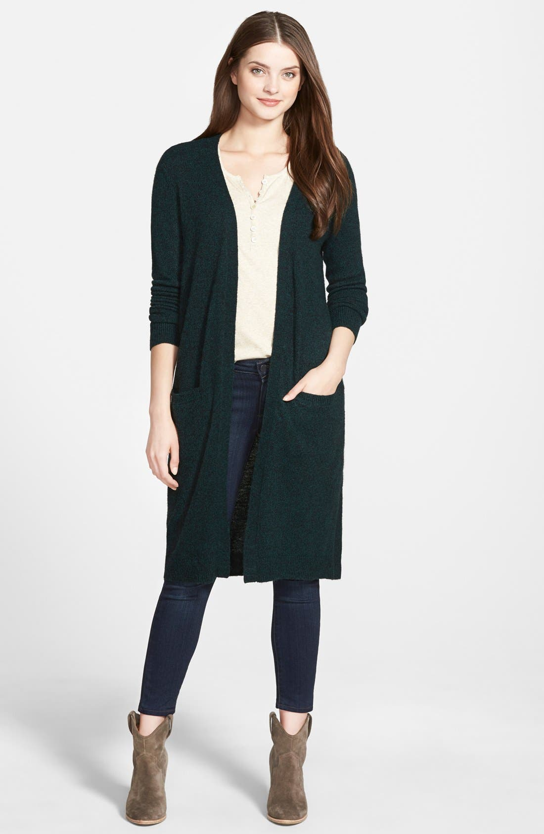 ,                             Long Open Front Cardigan,                             Main thumbnail 7, color,                             301