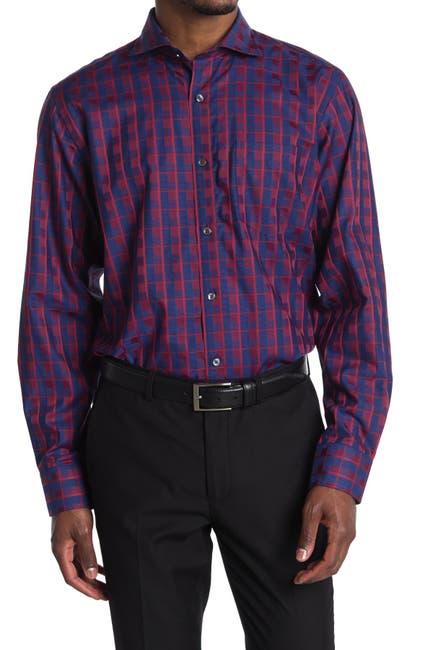 Image of Bugatchi Check Print Classic Fit Shirt