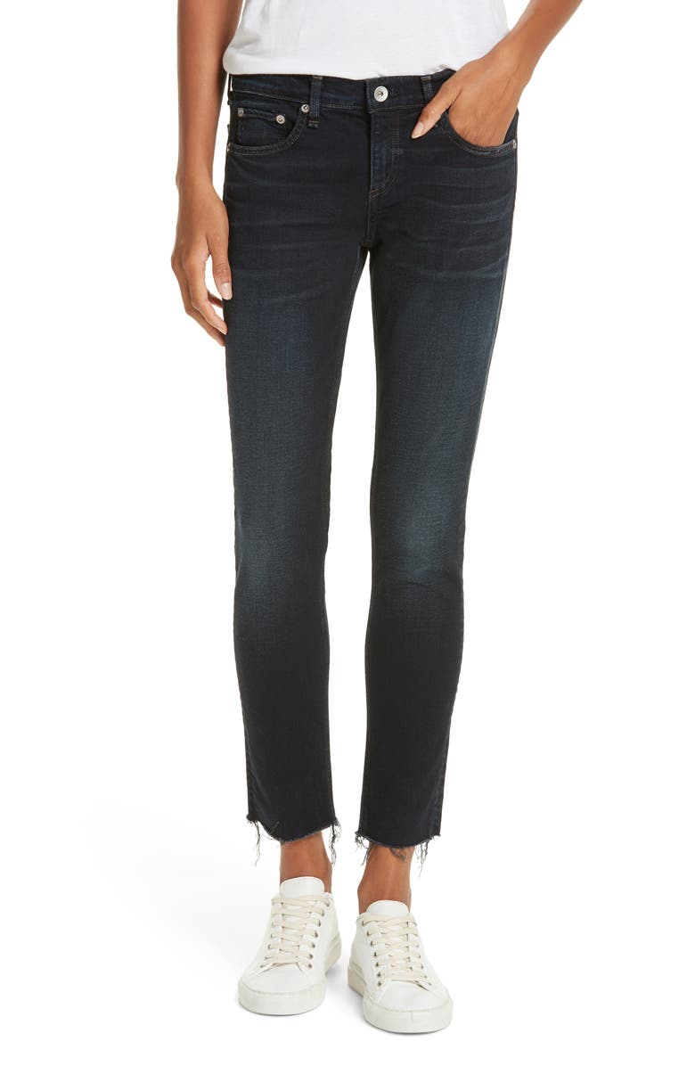 5331df01 rag & bone The Dre Raw Hem Ankle Slim Boyfriend Jeans (Inky) | Nordstrom