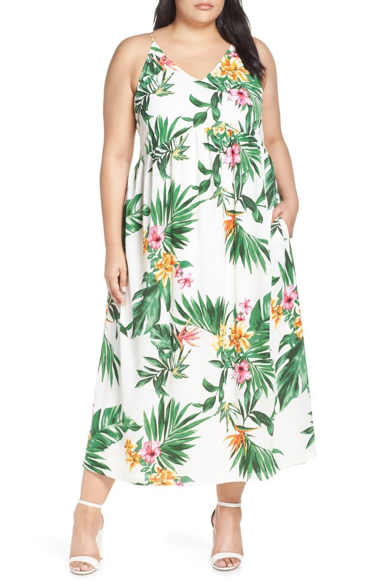 GIBSON x Hi Sugarplum! Palm Springs Festival Maxi Dress, Main, color, BIRD OF PARADISE