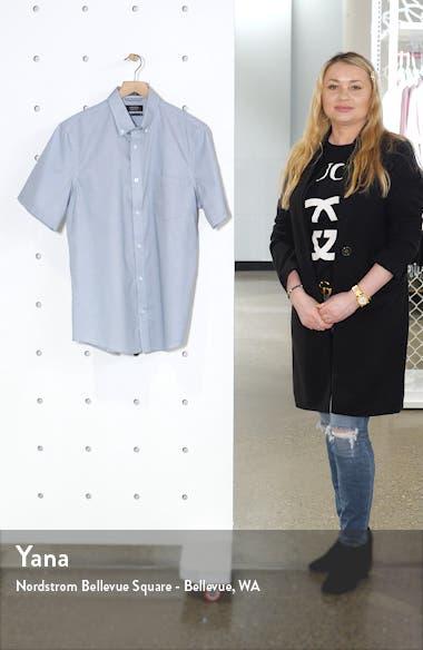 Nordstrom Mens Shop Regular Fit Non-Iron Short Sleeve Button-Down Shirt, sales video thumbnail