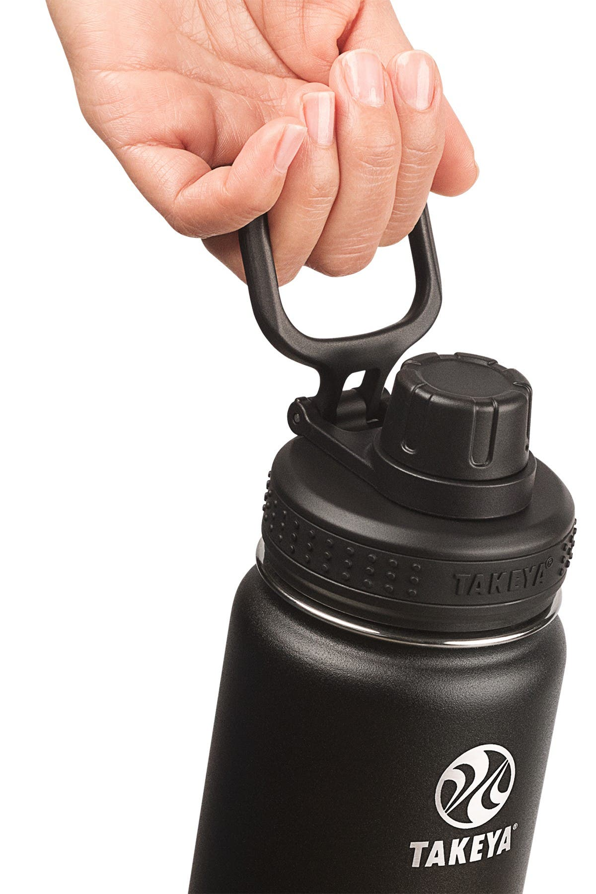 Image of Takeya Actives Insulated 22 oz. Stainless Steel Bottle with Straw Lid - Onyx