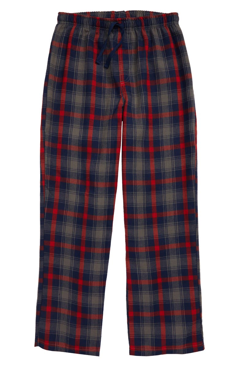 TUCKER + TATE Plaid Flannel Pants, Main, color, GREY CASTLEROCK FELICE PLAID