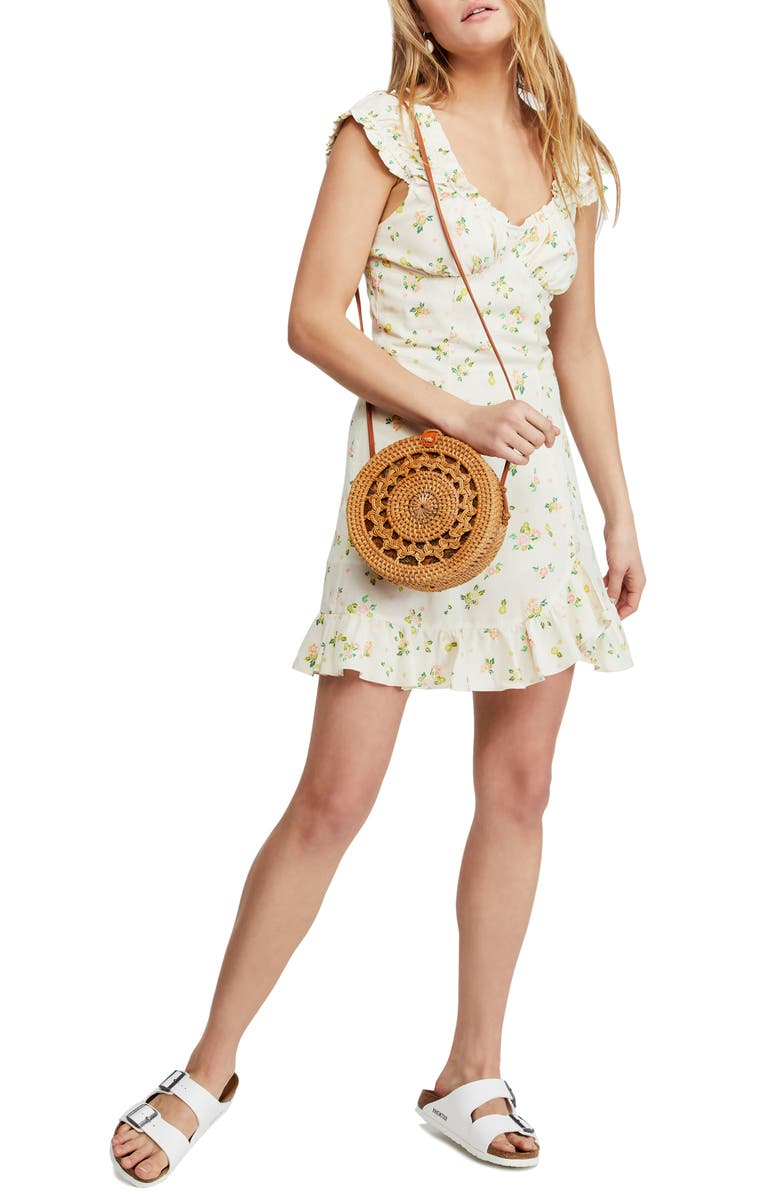 FREE PEOPLE Like a Lady Print Minidress, Main, color, PINK