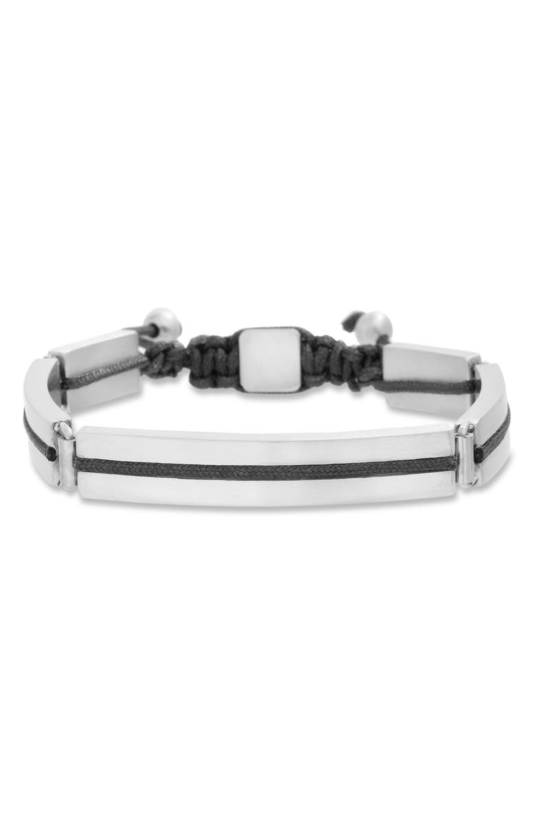 BEN SHERMAN Adjustable Steel Bracelet, Main, color, BLACK