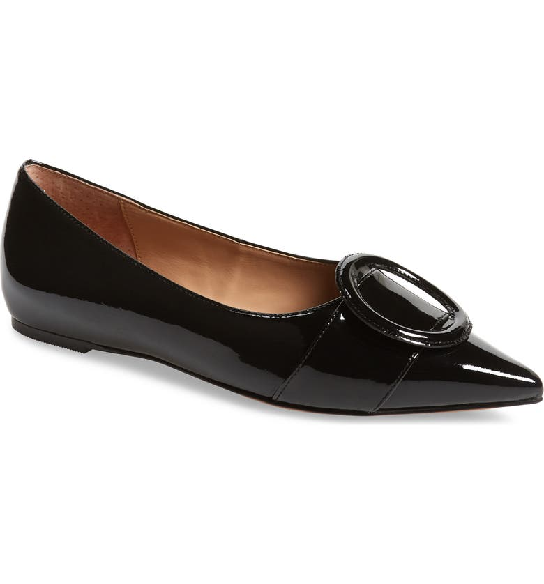 LINEA PAOLO Niola Skimmer Flat, Main, color, BLACK PATENT LEATHER