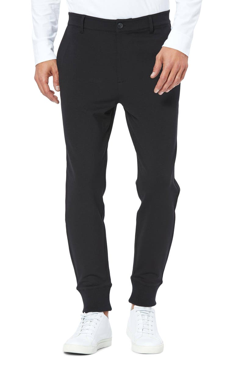 PAIGE Transcend Elmwood Slim Fit Jogger Pants, Main, color, BLACK