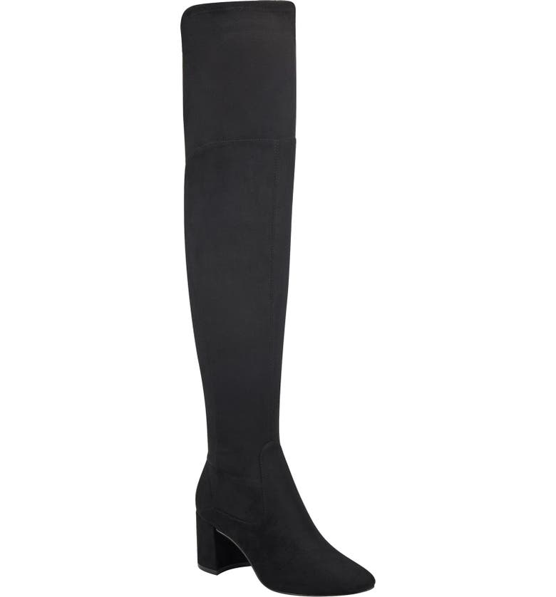 MARC FISHER LTD Jayne Over the Knee Boot, Main, color, BLACK FABRIC