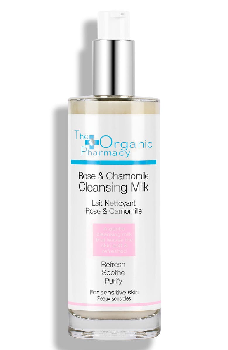 THE ORGANIC PHARMACY Rose & Chamomile Cleansing Milk, Main, color, 000