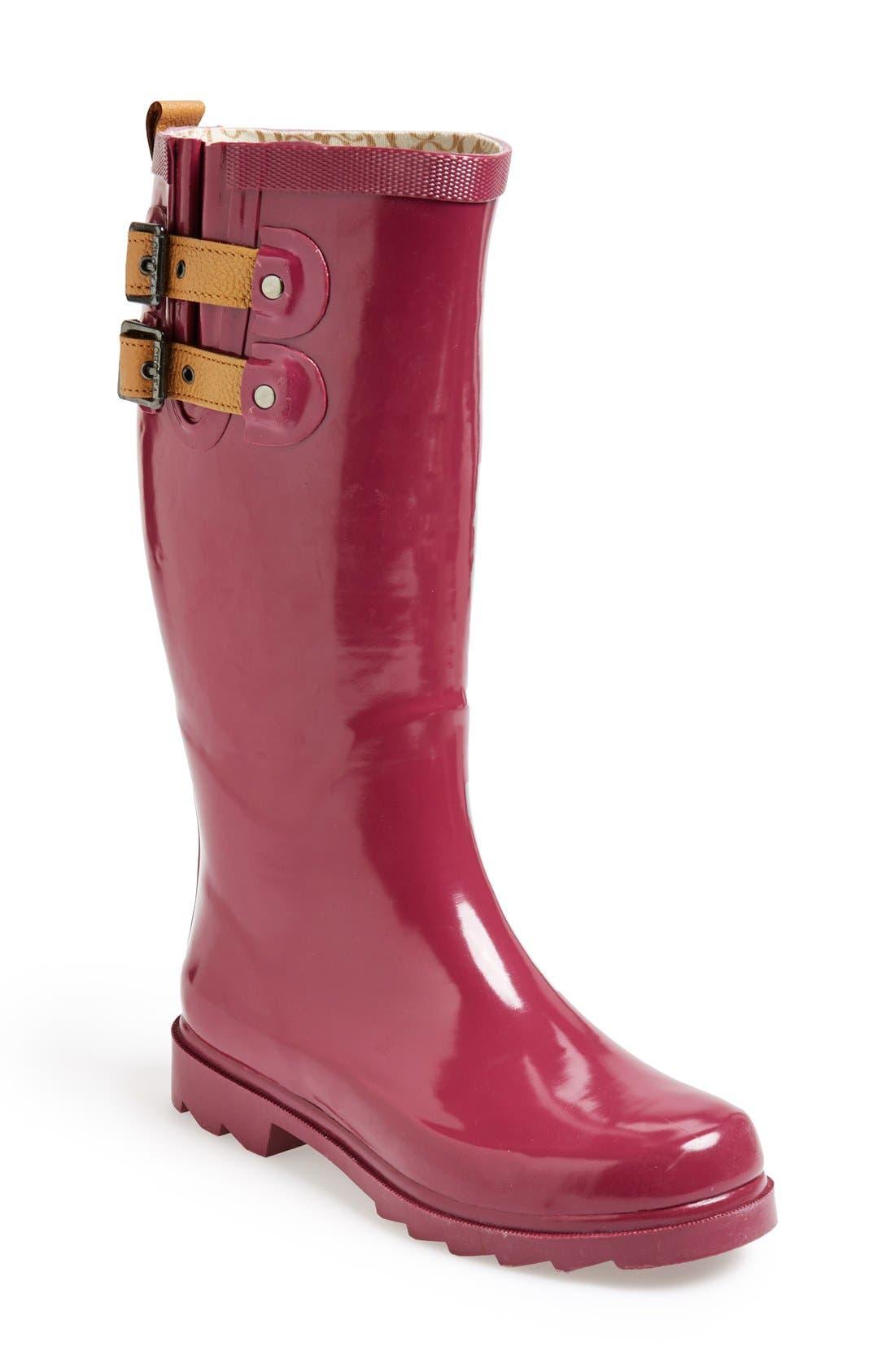 ,                             'Top Solid' Rain Boot,                             Main thumbnail 137, color,                             662
