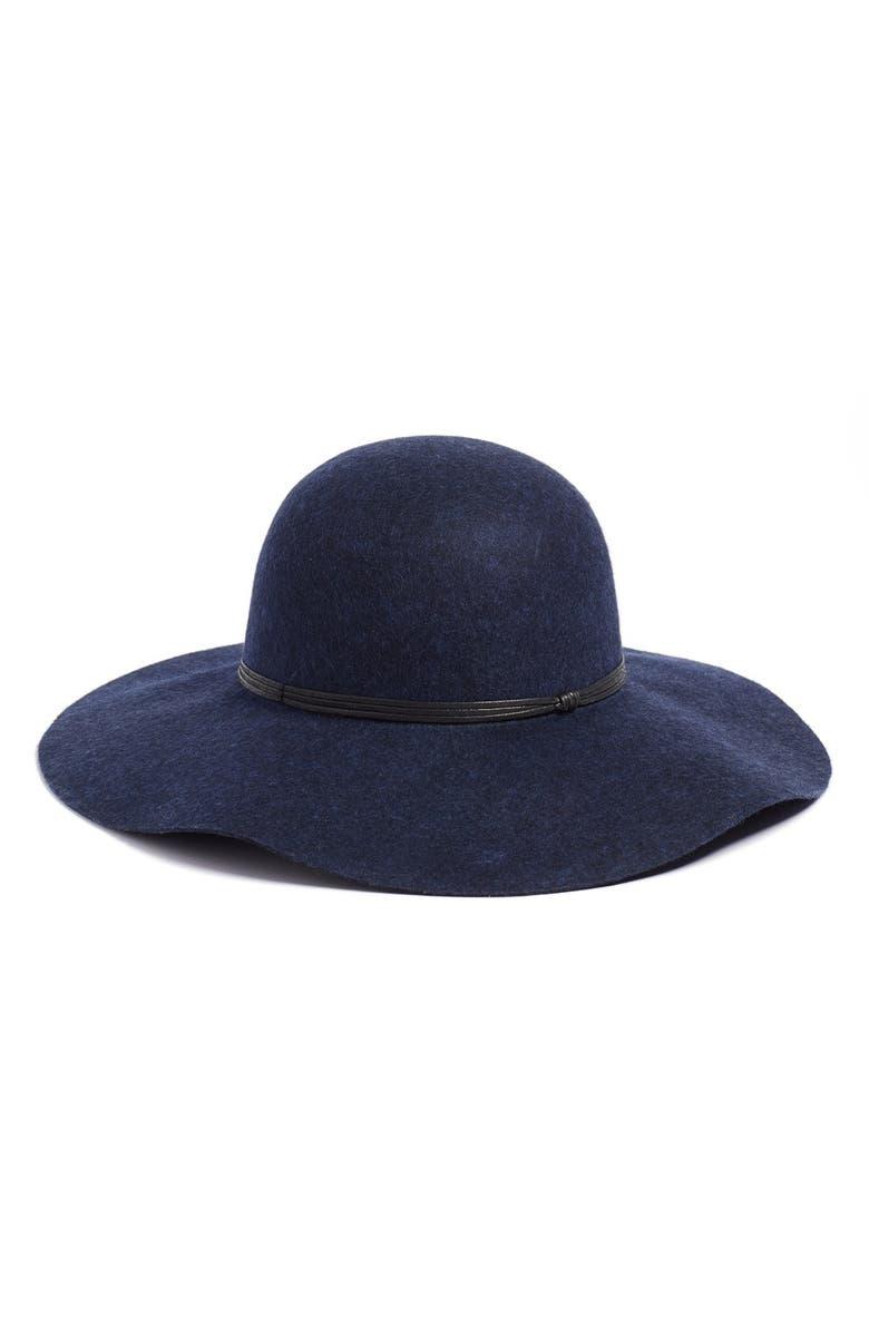 HINGE Floppy Wool Hat, Main, color, NAVY HEATHER
