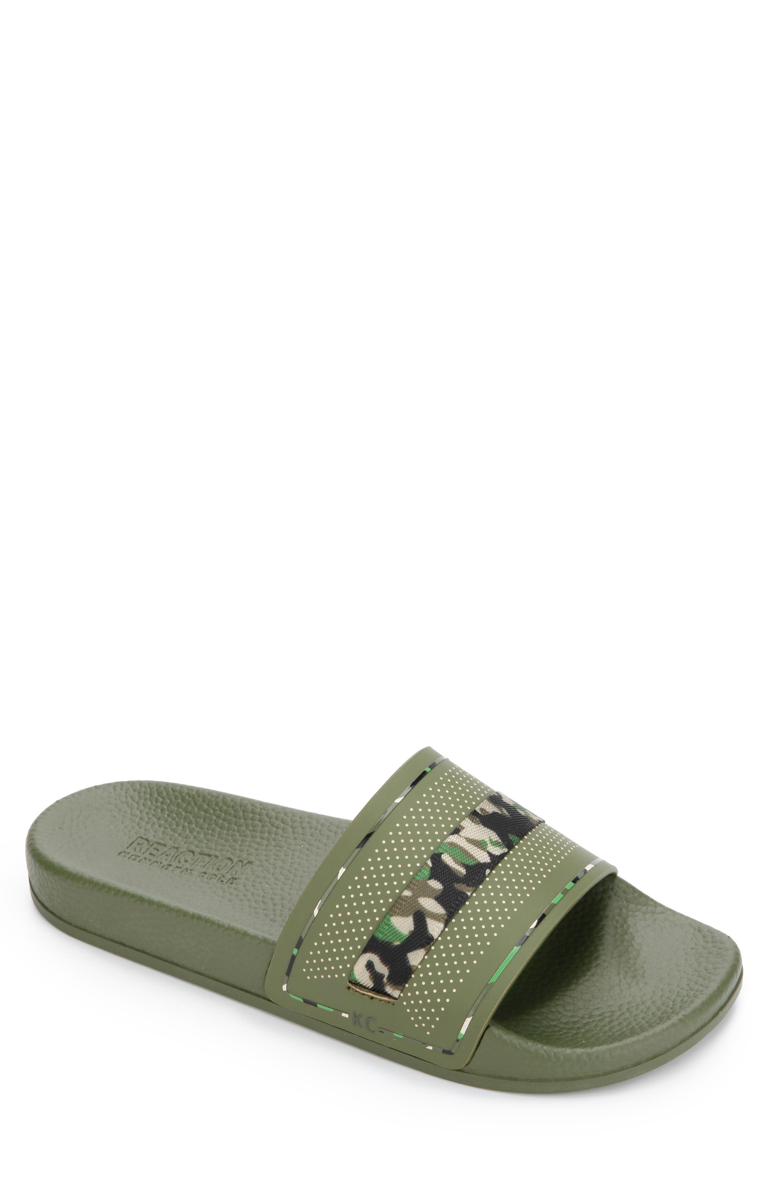 Image of Kenneth Cole Reaction Sail Mixed Slide Sandal