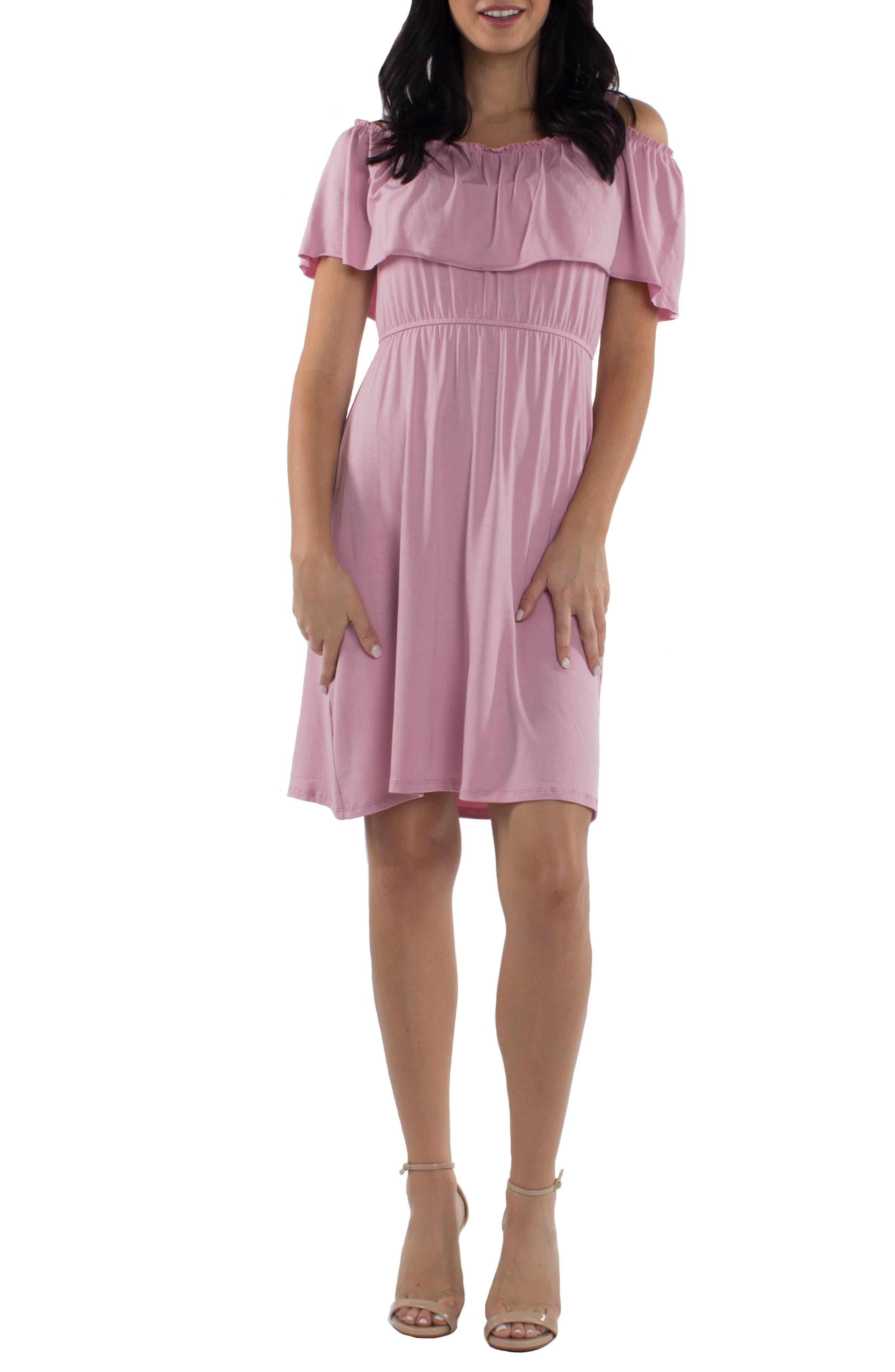 Udderly Hot Mama Reagan Maternity/nursing Dress, Pink