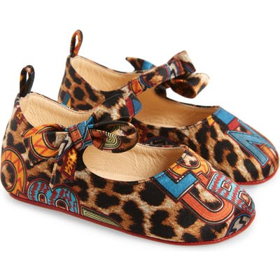 Christian Louboutin Lou Babe Mary Jane, Brown (Baby) (Nordstrom Exclusive)