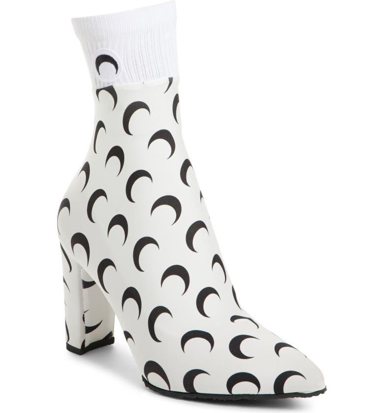MARINE SERRE Moon Print Sock Boot, Main, color, 100