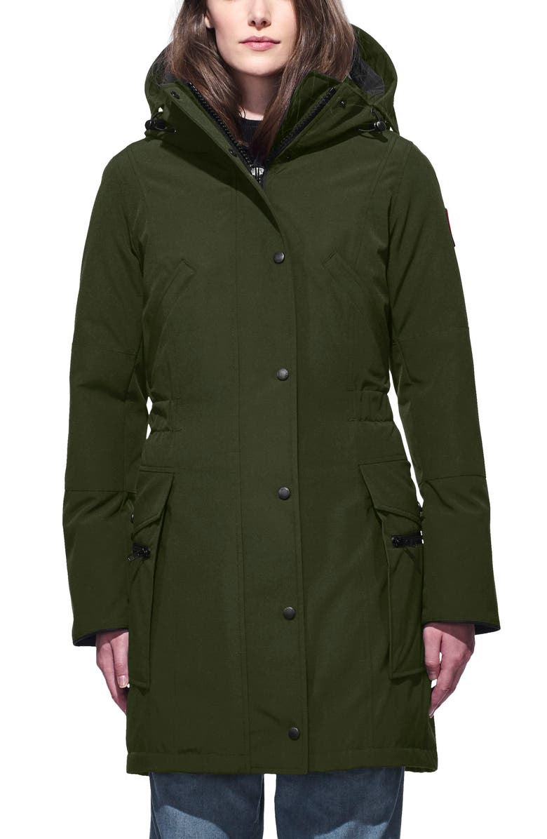 CANADA GOOSE Kinley Insulated Parka, Main, color, MILITARY GREEN