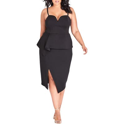 Plus Size City Chic Screen Siren Dress, Black