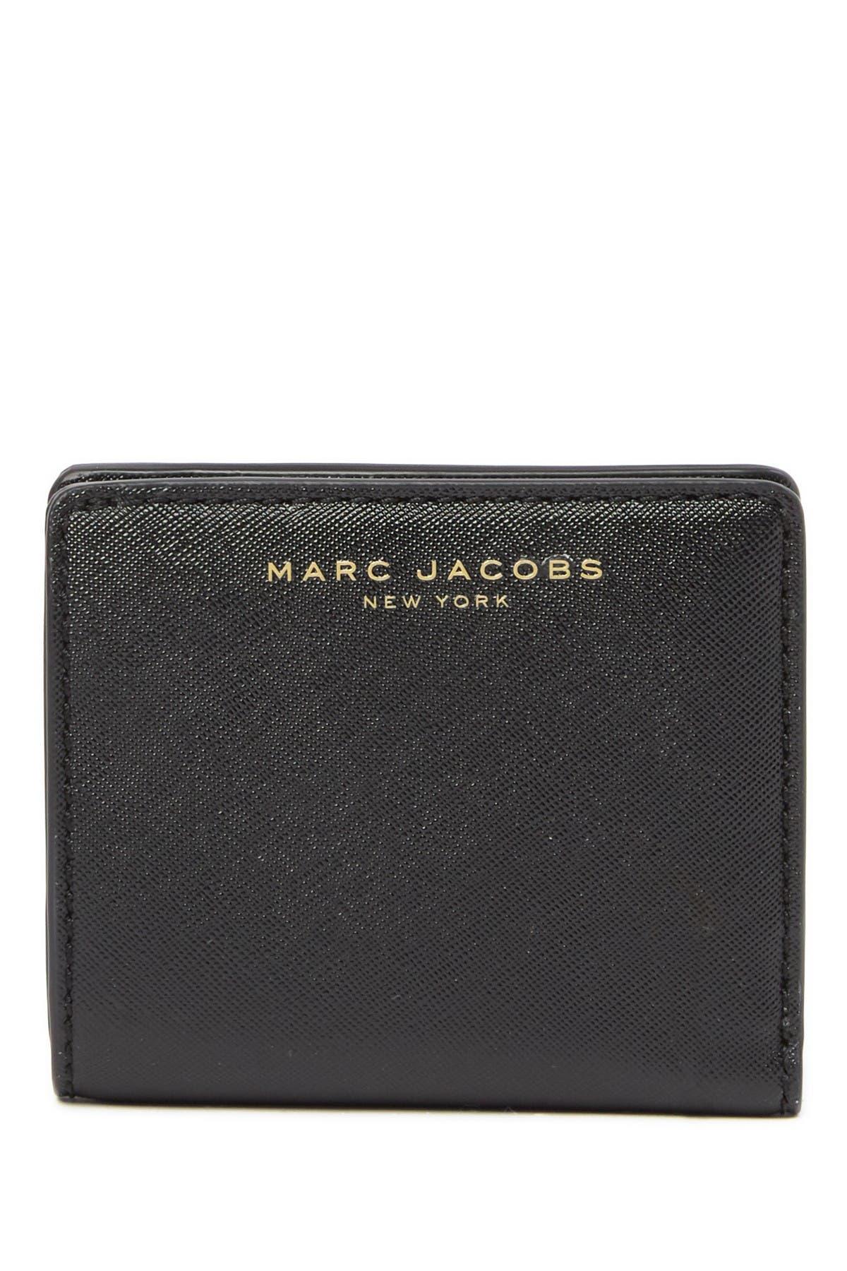 Image of Marc Jacobs Saffiano Bi-Fold Wallet