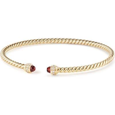 David Yurman Cable Spira Bracelet In 18K Gold With Diamonds, m