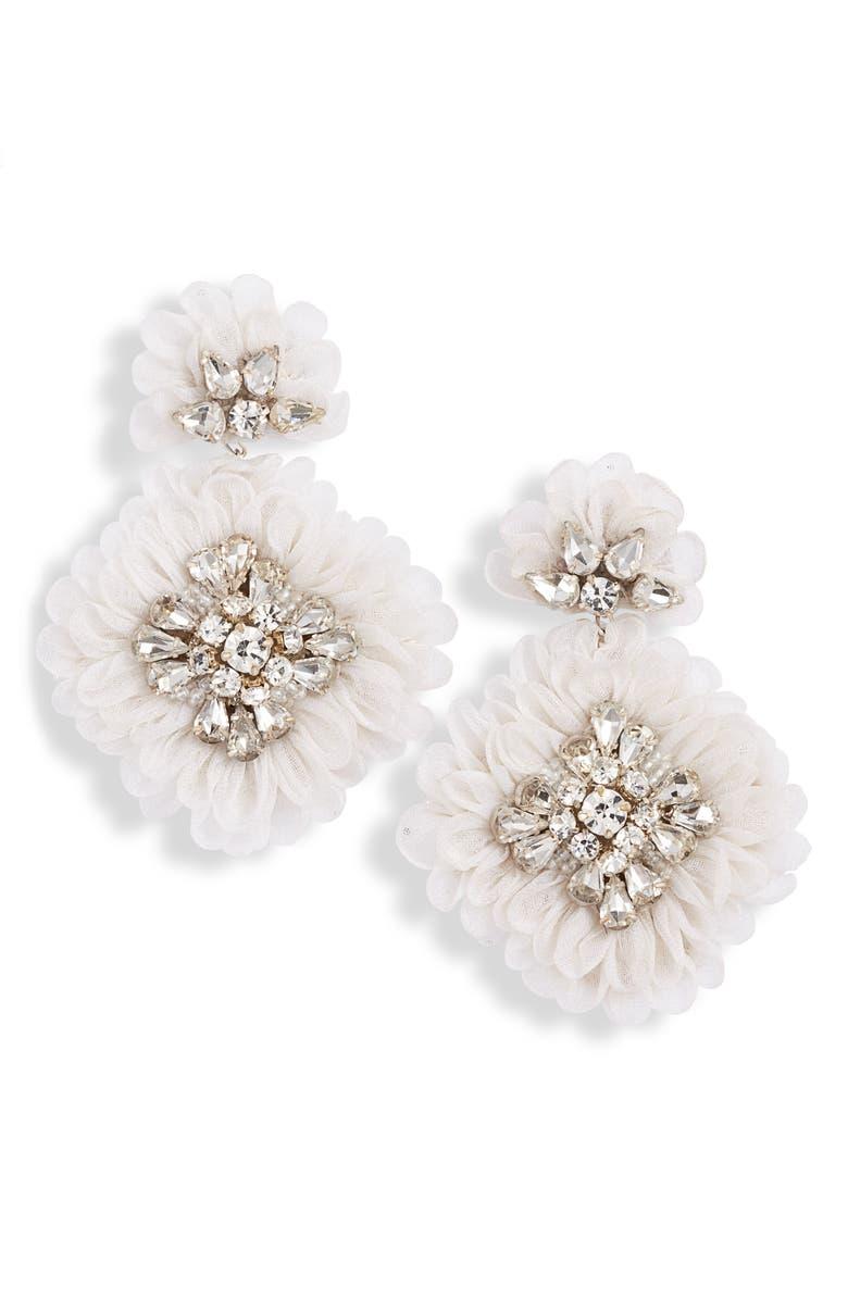MIGNONNE GAVIGAN Mila Silk Organza Statement Earrings, Main, color, 100