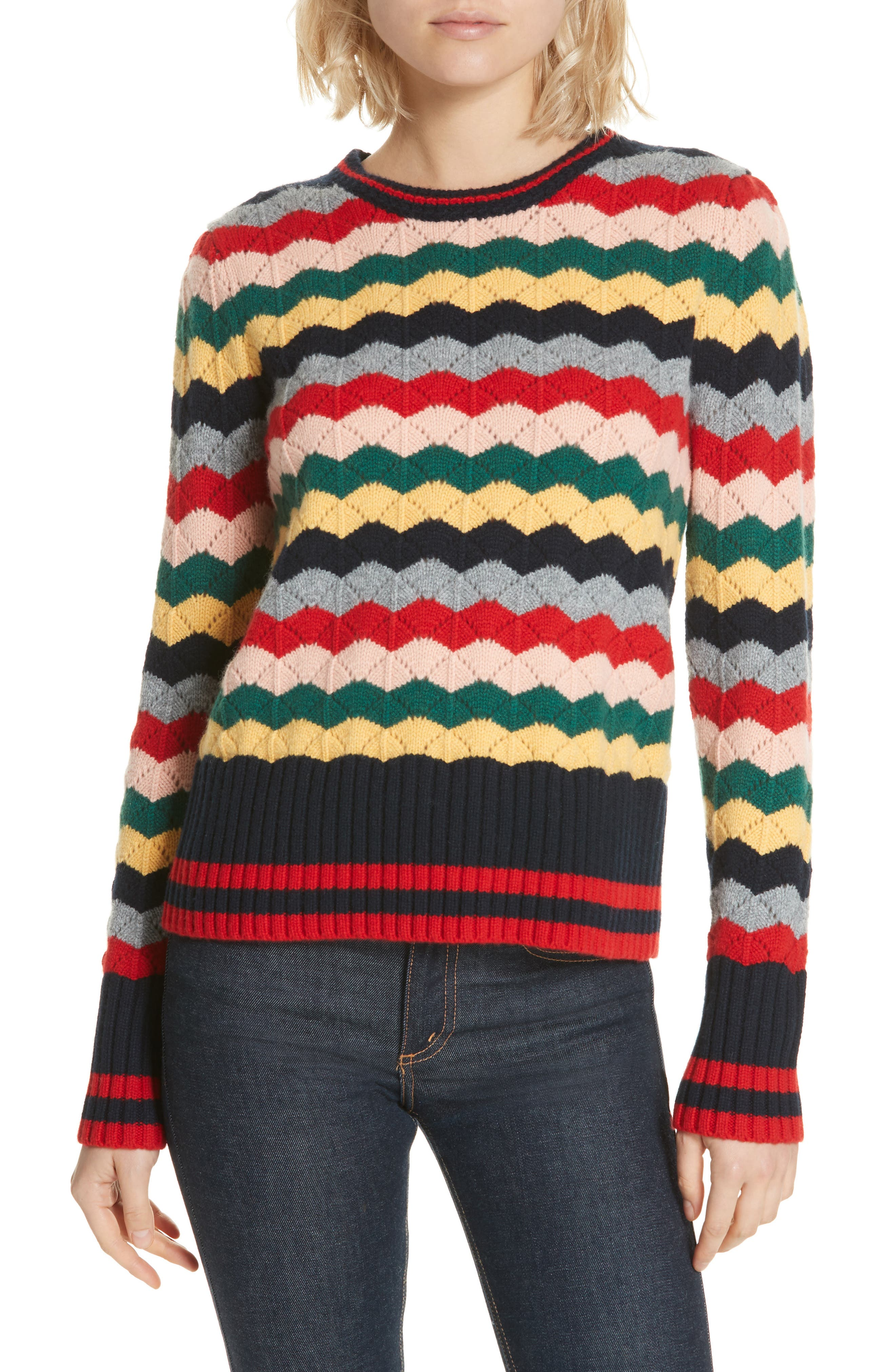 Chinti & Parker Wool & Cashmere Stripe Sweater, None