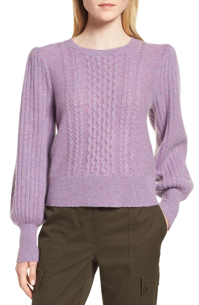 NORDSTROM SIGNATURE Cable Cashmere Sweater, Main, color, 530