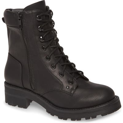 Mia Dean Combat Boot- Black