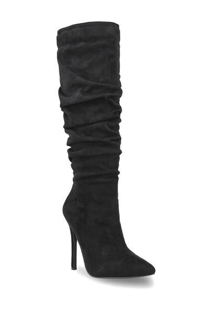 Image of Chase & Chloe Lopez Slouchy Knee High Stiletto Boot