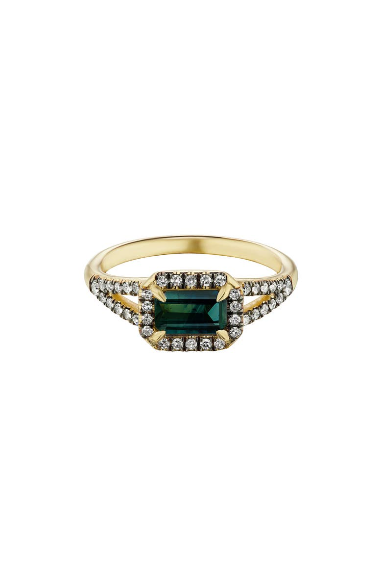 MANIAMANIA Etherea Ring, Main, color, YELLOW GOLD/ SAPPHIRE