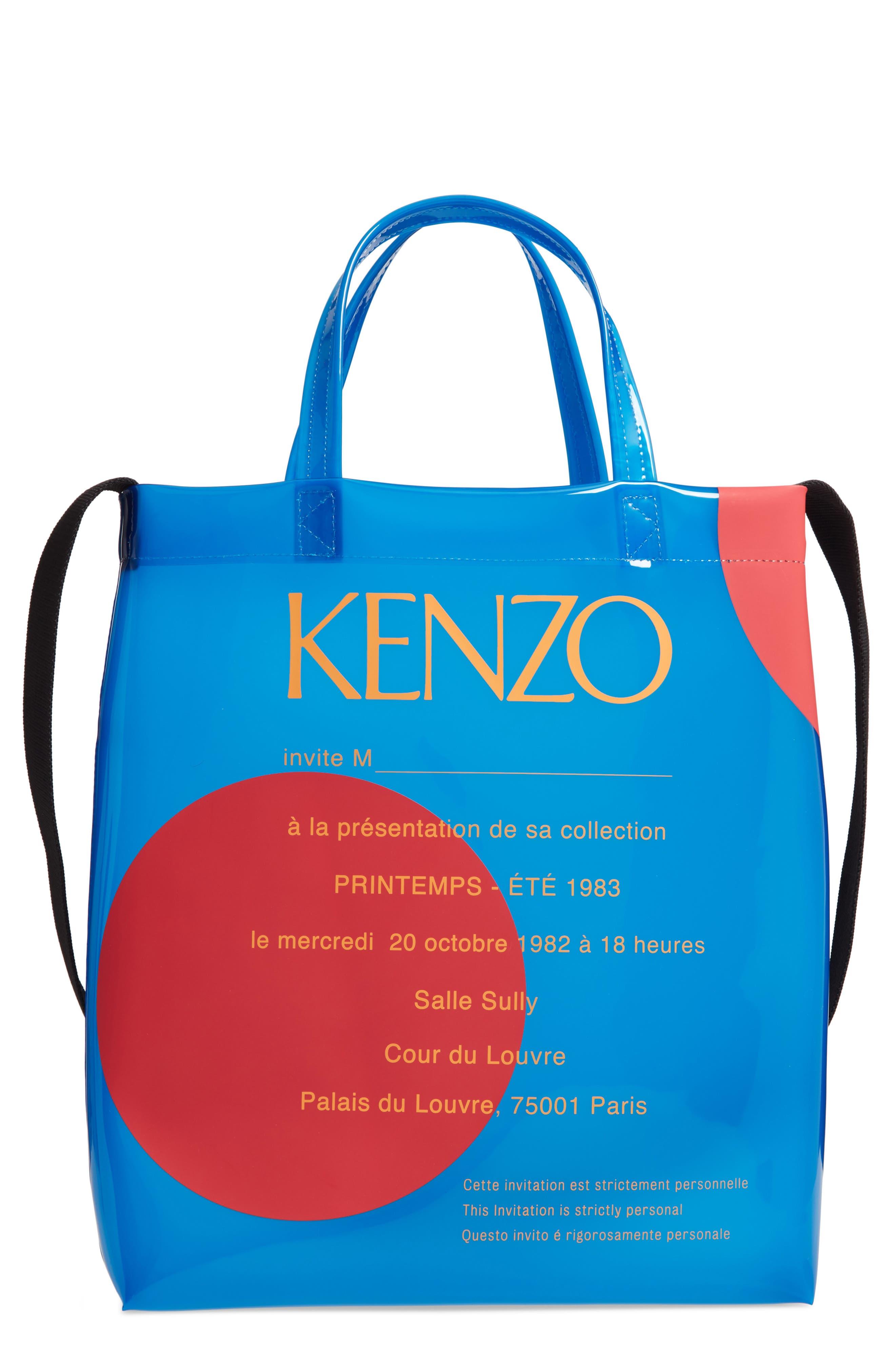 Kenzo Pvcs Invitation Transparent Tote