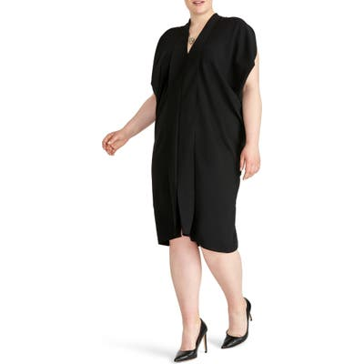 Plus Size Rachel Rachel Roy Daina Drapey Midi Dress