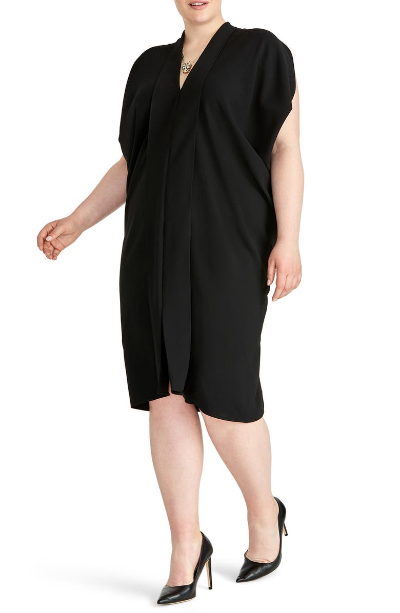 RACHEL RACHEL ROY Daina Drapey Midi Dress, Main, color, BLACK