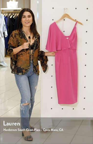 Beth Asymmetrical Ruffle Sleeve Dress, sales video thumbnail