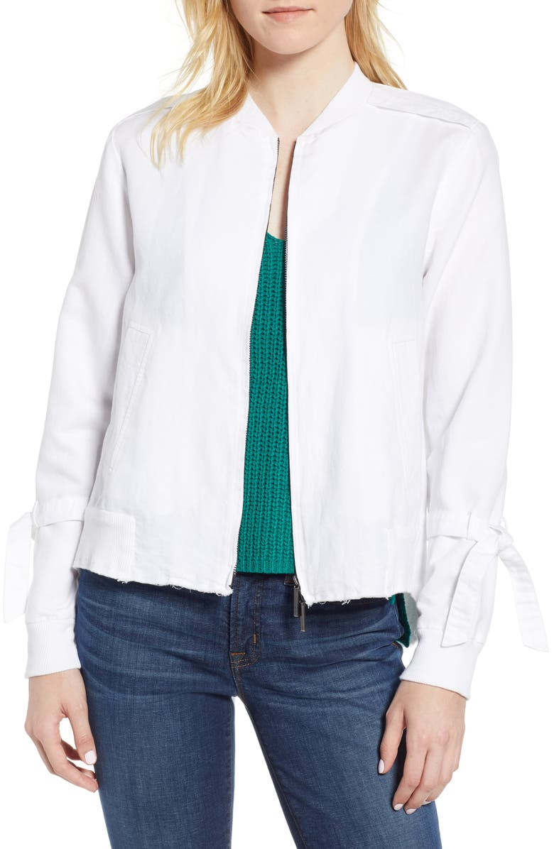 06633c837 Kenneth Cole New York Tie Sleeve Bomber Jacket | Nordstrom