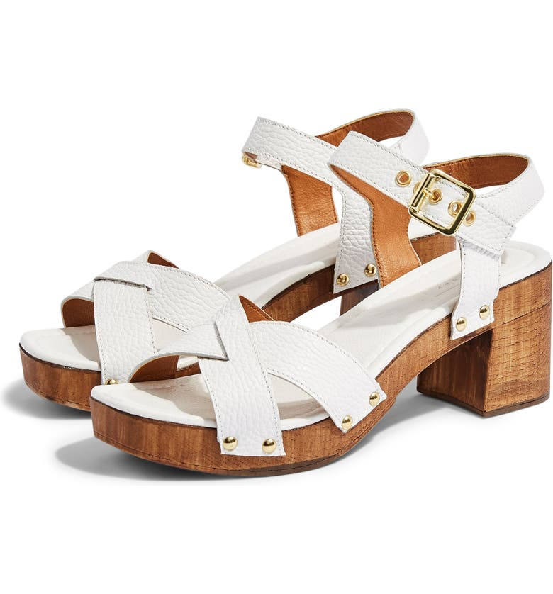 TOPSHOP Veronica Clog Sandal, Main, color, WHITE MULTI