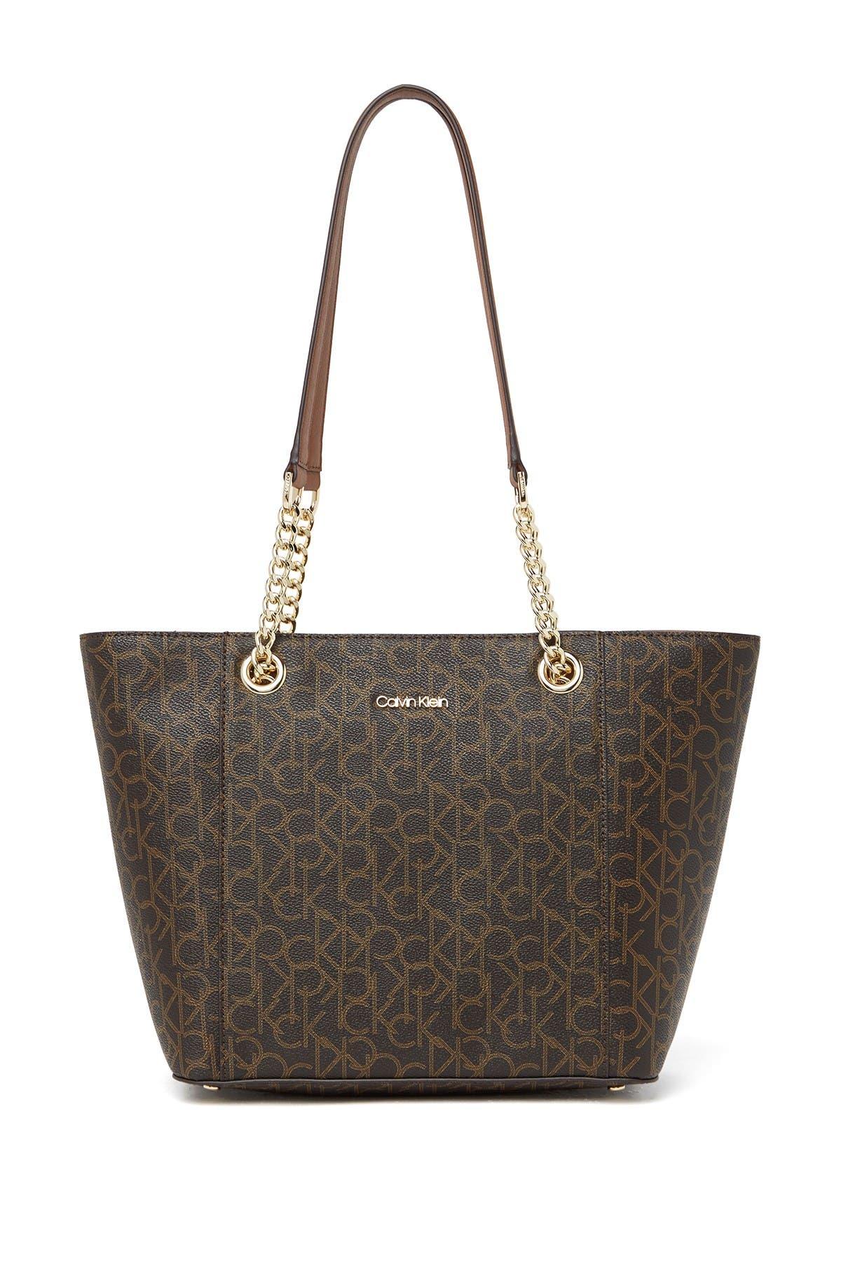 Image of Calvin Klein Hayden Key Item Monogram Tote Bag
