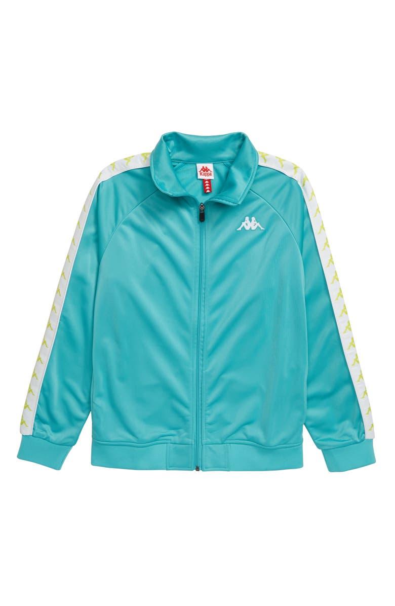 KAPPA 222 Banda Anniston Full Zip Track Jacket, Main, color, GREEN LT/ WHITE