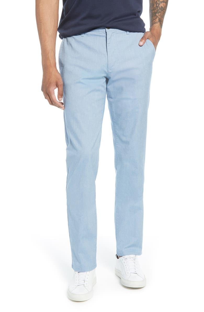 BONOBOS Slim Fit Oxford Stretch Chinos, Main, color, LIGHT BLUE